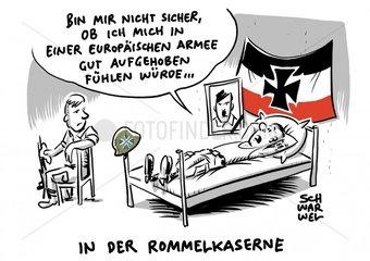 Merkel plaediert fuer echte europaeische Armee