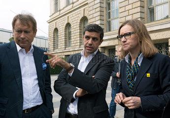 Berlin  Deutschland  Ulrich Nussbaum  Berliner Finanzsenator  Raed Saleh  Fraktionsvorsitzender der SPD  und Sigrid Nikutta  BVG-Vorstandsvorsitzende