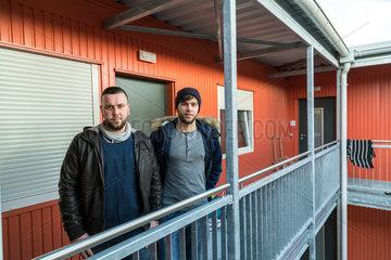Bremen  Deutschland  syrische Fluechtlinge im Uebergangswohnheim Ueberseetor
