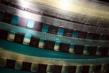 Berlin  Deutschland  Detailaufnahme eines Filmstreifen