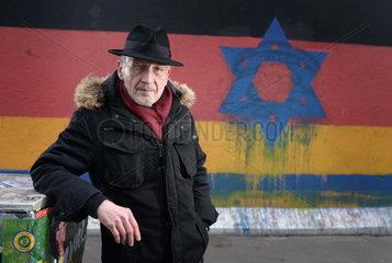 Berlin  Deutschland  Guenther Schaefer  Mitbegruender der East Side Gallery