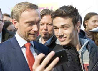 Wahlkampfauftritt von Christian Lindner  FDP