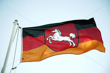 Heidenau  Deutschland  Landesflagge von Niedersachsen