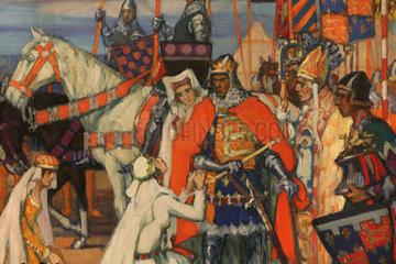 Painting  Chateau de Hardelot  Condette  Pas-de-Calais  France