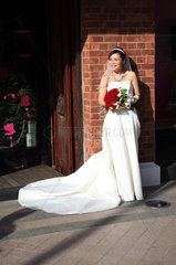 Hong Kong  China  Portraet einer Braut