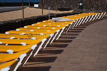 Sunbeds - Playa Blanca  Lanzarote