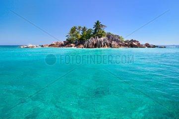 Little beautiful island of St Pierre in Seychelles