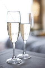 Champagne in champange flutes