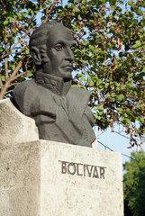 Havanna  Kuba  eine Bueste des Unabhaengigkeitskaempfers Simon Bolivar