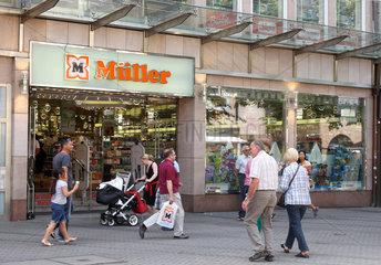 Nuernberg  Deutschland  Drogeriemarkt der Marke Mueller