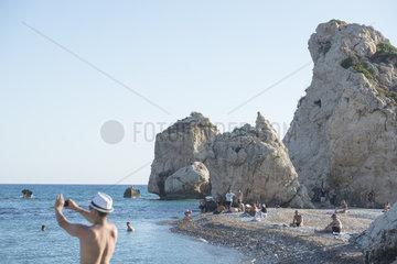 Badebucht Petra tou Romiou