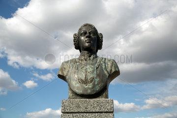 Bender  Republik Moldau  Denkmal des Luegenbarons Muenchhausen auf der Festung Bender