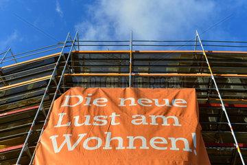 Hannover  Deutschland  Geruest auf einer Baustelle
