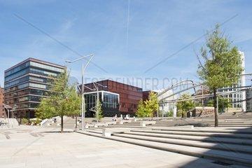 Moderne Architektur in der HafenCity in Hamburg