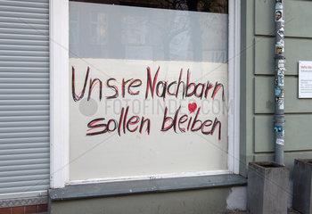 Mieterprotest gegen Gentrifizierung und den Verkauf von Wohnungen