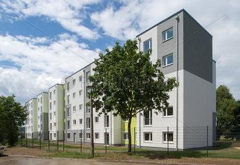 Modulare Unterkunft fuer Fluechtlinge der HOWOGE in Berlin-Hohenschoenhausen