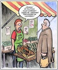 politisch korrekte Karotten