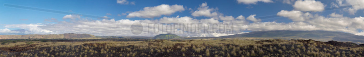 Mauna Kea und Mauna Loa  Big Island  Hawai