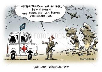 UNO-Konvois in Syrien : Hilfslieferungen fuer eingekesselte Staedte verzoegert