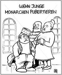 Pubertaet junger Monarchen