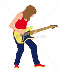 Rhythmusgitarrist Serie Musiker