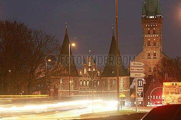 Holstentor in Luebeck
