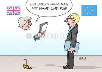 Brexit-Vertrag mit Hand und Fuss