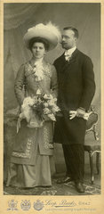 Verlobungsfoto  vornehmes Paar  Graz  1908