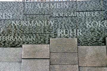 Kriegerdenkmal in London am Hyde Park Corner.