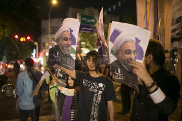 IRAN-TEHRAN-PRESIDENTIAL ELECTION-POSTERS