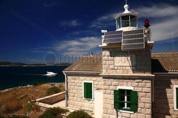 Kroatien  Mittel-Dalmatien  Leuchtturm Vela Muljica