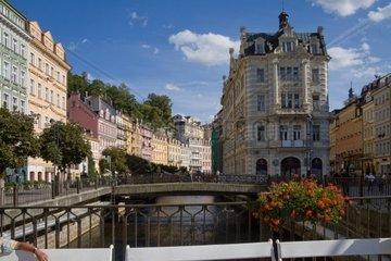 Bruecken ueber die Eger in Karlovy Vary