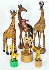 Giraffen  Figuren  Souvenir  Konvolut  1978-1990
