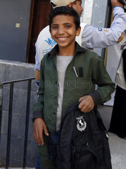 YEMEN-SANAA-SCHOOL STUDENTS-AIDS