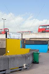 London  Grossbritannien  Southbank  Promenade an der Themse