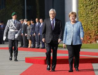 Bundeskanzleramt - Treffen Merkel Pinera