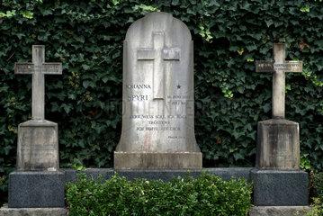 Zuerich  Schweiz  das Grab der Schriftstellerin Johanna Spyri