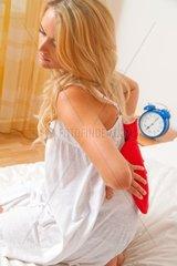 Krank durch Schmerzen im Ruecken Bandscheibe und Wirbelsaeule