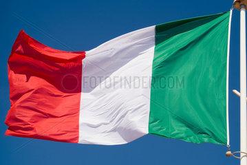 Frankreich  wehende italienische Nationalflagge
