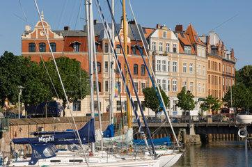 Stralsund  Deutschland  Boote im Hafen