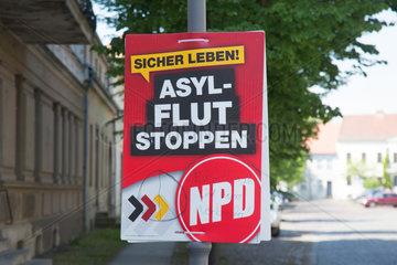 Kremmen  Deutschland  NPD-Plakat
