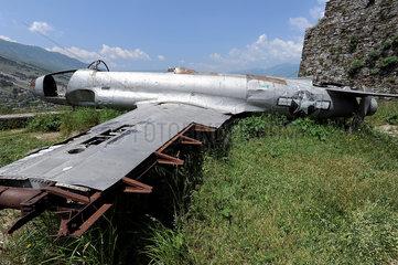 Gjirokastra  Albanien  die Lockheed auf der Burg Gjirokastra