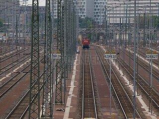 Lok auf Gleisanlage