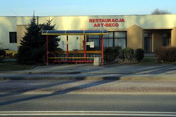 Auschwitz  Polen  Restaurant in der Naehe des Konzentrationslager Auschwitz