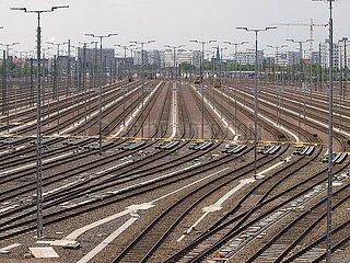 Gleisanlage in Halle (Saale)