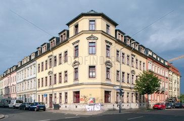 Dresden  Deutschland  Wohnhaeuser in der Kamenzer Strasse Ecke Bischofsweg
