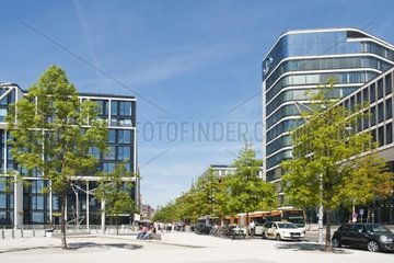 Modern architecture in the HafenCity in Hamburg