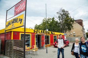 Gubin  Polen  ein Solarium