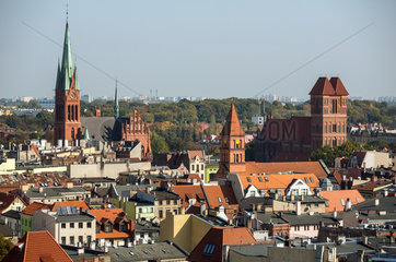 Thorn  Polen  Blick ueber die Altstadt