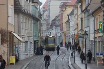 Brandenburg  Deutschland  die Hauptstrasse im Zentrum
